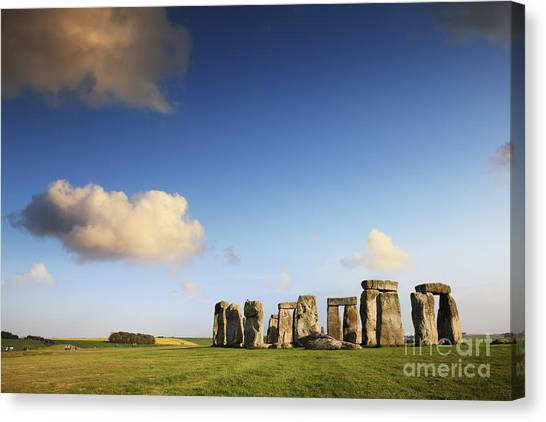 Cloud Canvas Print - Stonehenge Summer Evening by Colin and Linda McKie