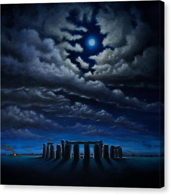 Stonehenge - The People's Circle Canvas Print