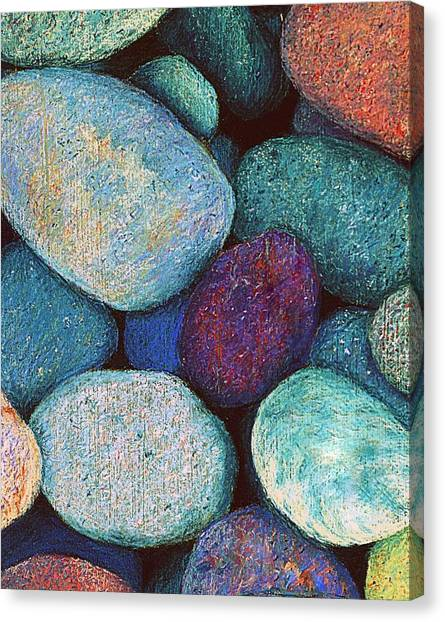 Stones In Pastel Canvas Print