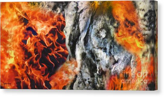 Stones On Fire 1 Canvas Print