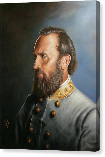 Battle Canvas Print - Stonewall Jackson by Glenn Beasley