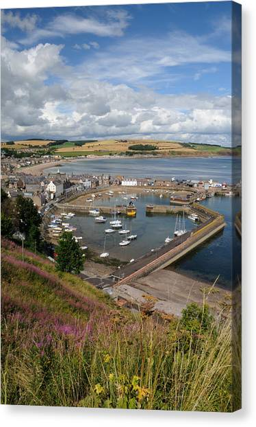 Stonhaven Harbour  Scotland Canvas Print