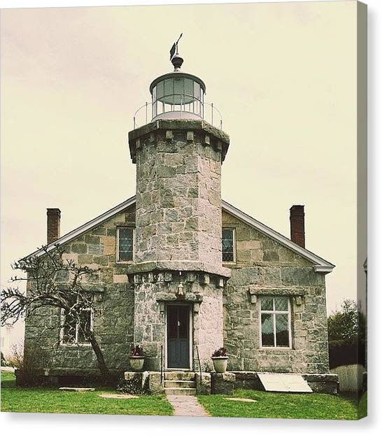 Lighthouses Canvas Print - Stonington Lighthouse by Ashley Morton
