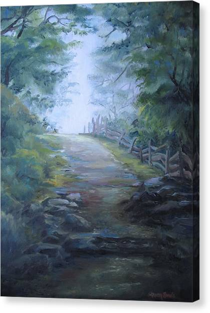 Stony Path Canvas Print