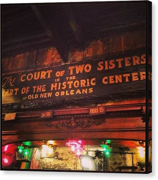 Bartender Canvas Print - Court Of Two Sisters by Jenna Zickerman