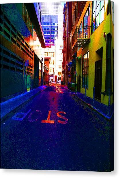 Stop Alley Canvas Print