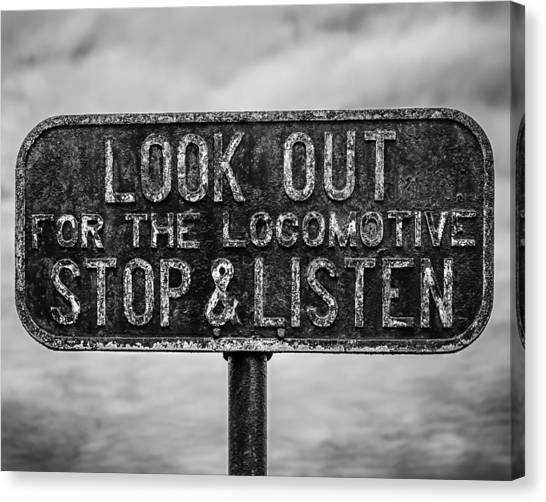 Stop And Listen Canvas Print