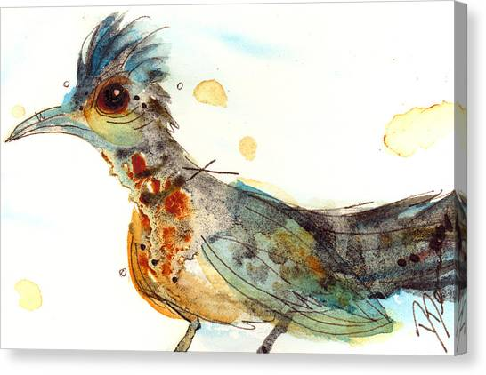 Roadrunner Canvas Print - Stop And Smell What? by Dawn Derman