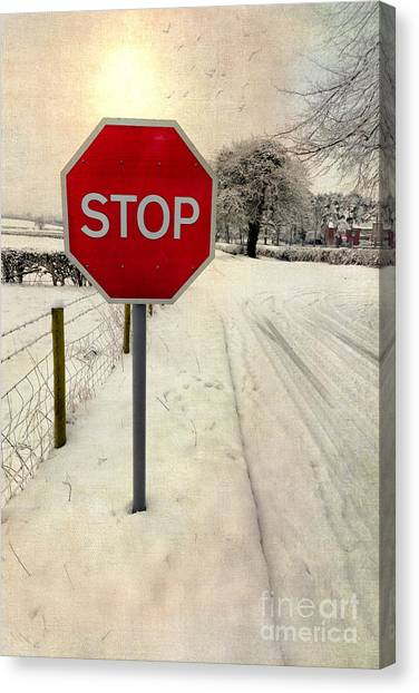 Stop Sign Canvas Print - Stop Sign by Adrian Evans