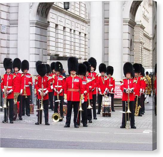 Royal Guard Canvas Print - Stop The Guard Is Here by Lelia Fashion