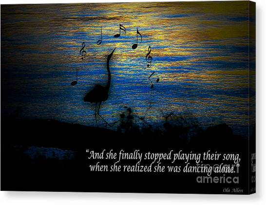 Stopped Playing Their Song Canvas Print
