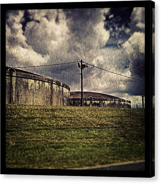 Color Contrast Canvas Print - Storage Tanks New Orleans by Glen Abbott