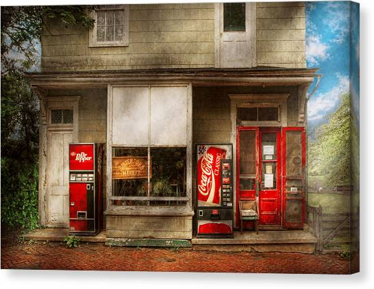 Pavers Canvas Print - Store Front - Waterford Va - Waterford Market  by Mike Savad