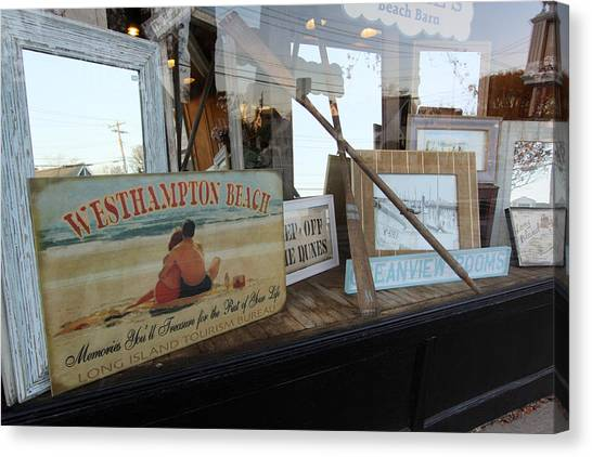 Store Front Westhampton New York Canvas Print