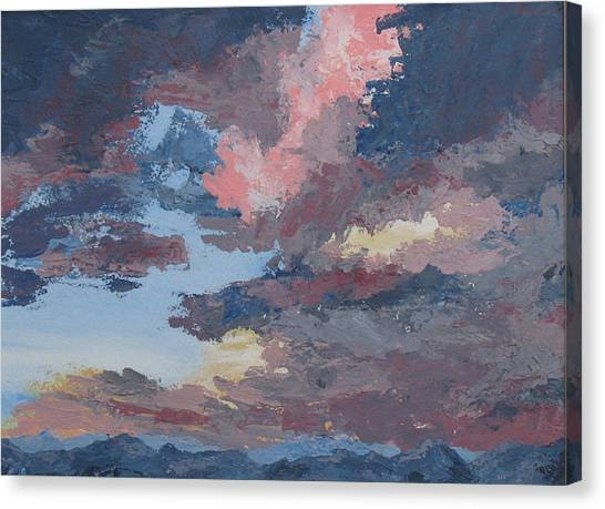 Storm A Brewin Canvas Print by Janis Mock-Jones