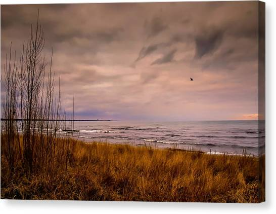 Storm Approaching At Dusk Canvas Print