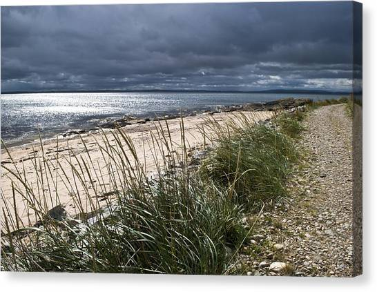 Storm Arising Dornoch Beach Scotland Canvas Print
