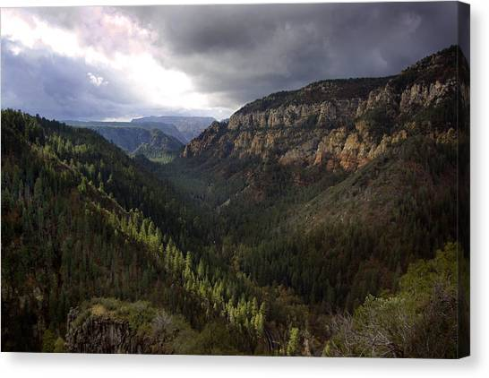 Storm At Oak Creek Canyon Canvas Print