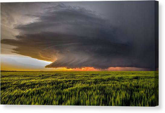 Cyclones Canvas Print - Storm At Sunset by Rob Darby