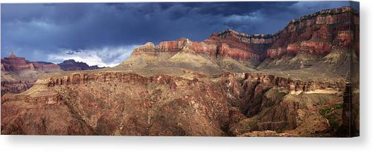 Storm Brewing In The Canyon Canvas Print