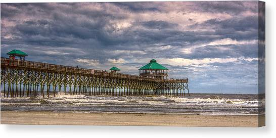 Storm Clouds Approaching - Hdr Canvas Print