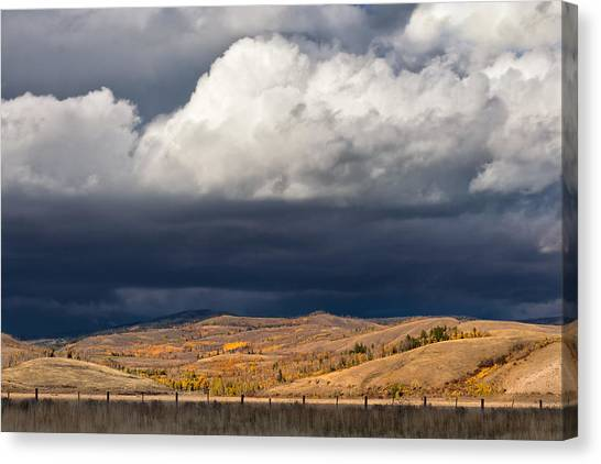 Bishop Hill Canvas Print - Storm Clouds Over Blacktail Butte by Kathleen Bishop