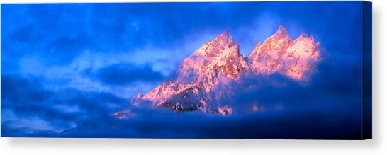 Teton Canvas Print - Storm Clouds Over Mountains, Cathedral by Panoramic Images