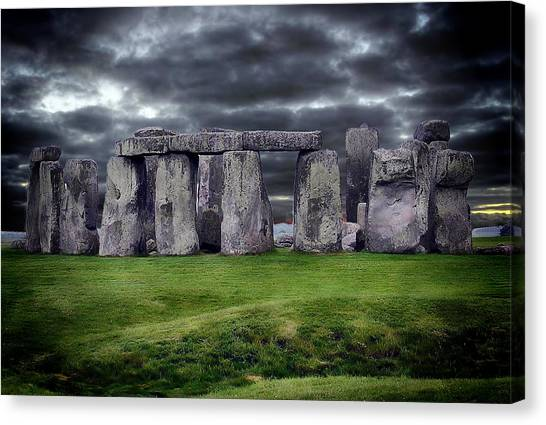 Storm Clouds Over Stonehenge Canvas Print