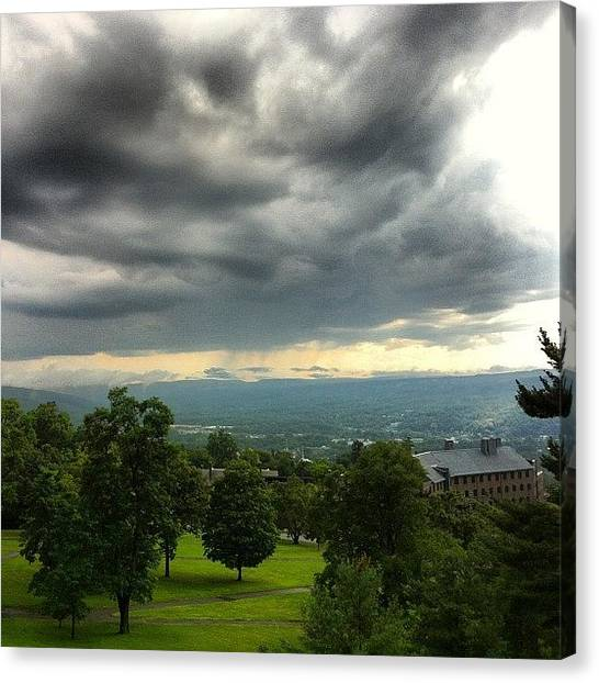 Ivy League Canvas Print - Storm Clouds Over The Cornell by Arnab Mukherjee