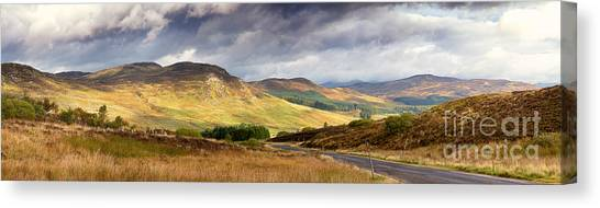 Moorland Canvas Print - Storm Clouds Over The Glen by Jane Rix
