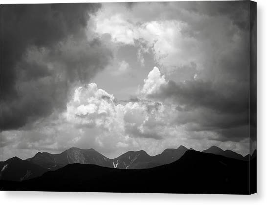 Storm Clouds Over The Great Range Canvas Print