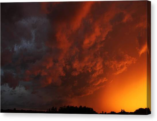 Storm Clouds Over Yorkton II Canvas Print