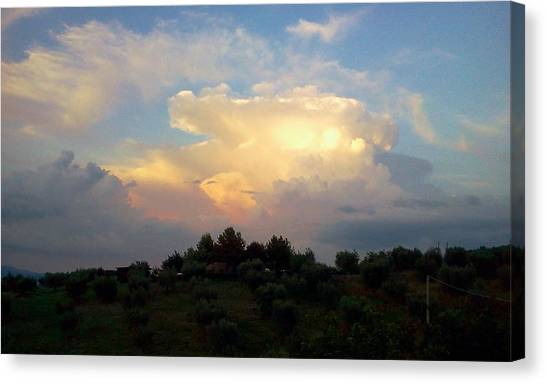Storm Clouds Reflecting Sunset Canvas Print