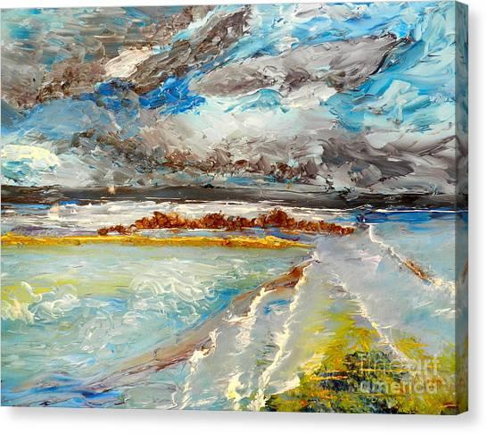 Storm Coming At Austinmer Beach Canvas Print