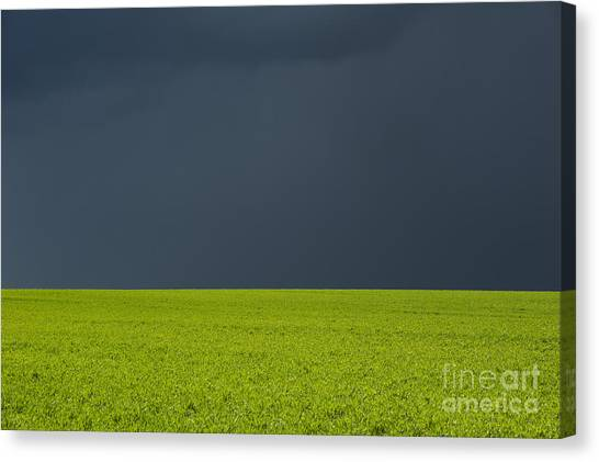 Rainclouds Canvas Print - Storm Field Abstract by Tim Gainey