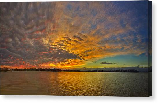 Storm Front Sunset II Canvas Print by Dan Holland