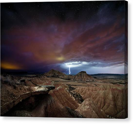 Thunderstorms Canvas Print - Storm by I?igo Cia