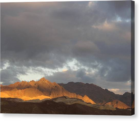 Storm In The Desert Canvas Print by Jenny Fish