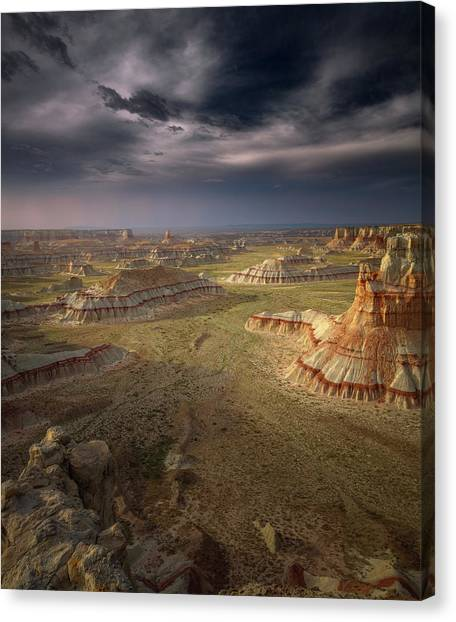 Formations Canvas Print - Storm In The Distance by Greg Barsh