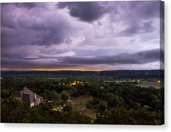 Storm In The Valley Canvas Print