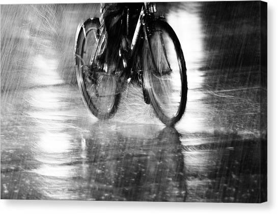 Wet Canvas Print - Storm by Jian Wang