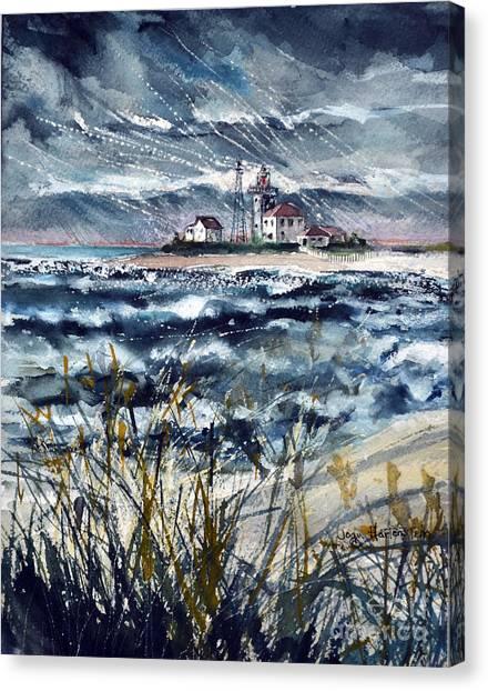 Storm On Block Island Sound Canvas Print