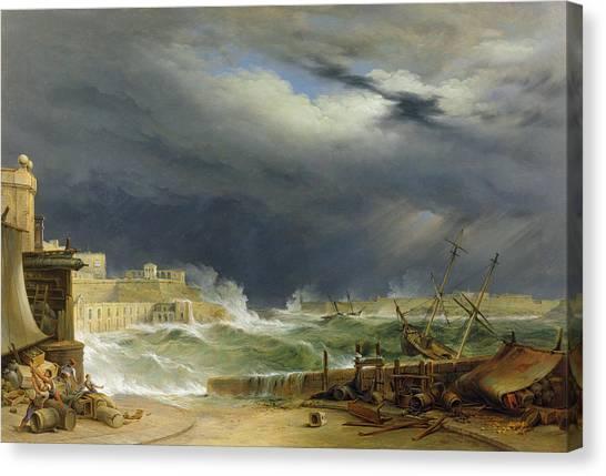 Flooding Canvas Print - Storm Malta by John or Giovanni Schranz