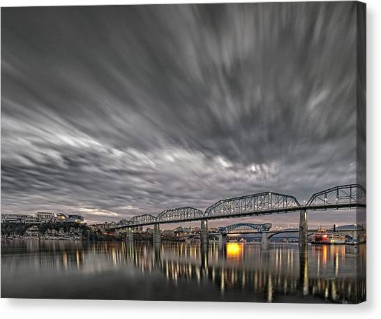 Storm Moving In Over Chattanooga Canvas Print
