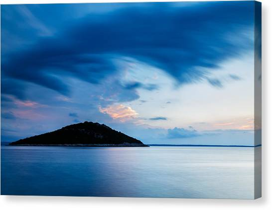 Storm Moving In Over Veli Osir Island At Sunrise Canvas Print