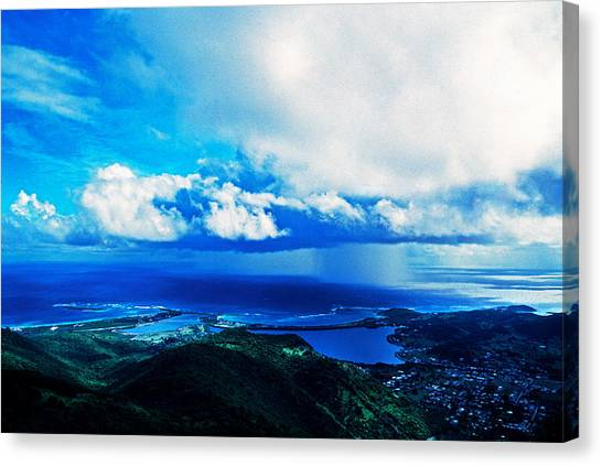 Cyclones Canvas Print - Storm Off Of Sint Maarten, Netherlands by Panoramic Images