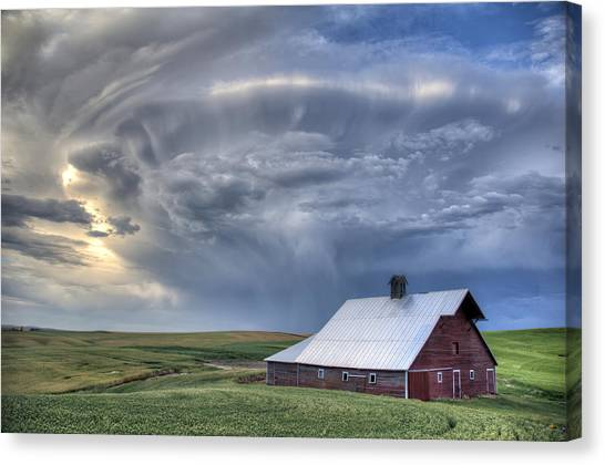 Contour Canvas Print - Storm On Jenkins Rd by Latah Trail Foundation