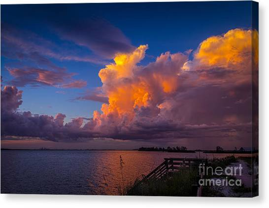 Thunder Canvas Print - Storm On Tampa by Marvin Spates