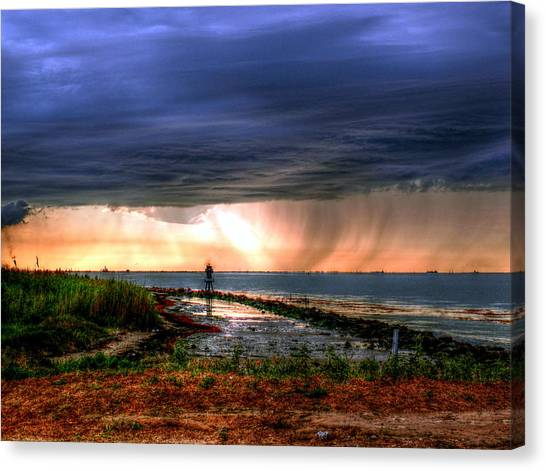Storm On The Bay Canvas Print