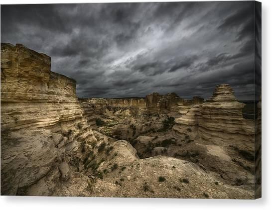 Storm On The Plains  Canvas Print